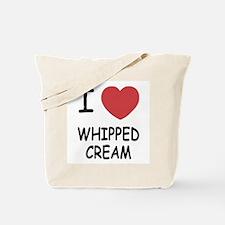 I heart Whipped Cream Tote Bag