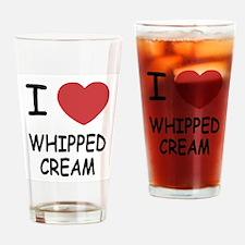 I heart Whipped Cream Drinking Glass