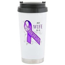 My Wife is a Survivor (purple).png Travel Mug