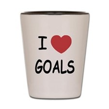 I heart Goals Shot Glass