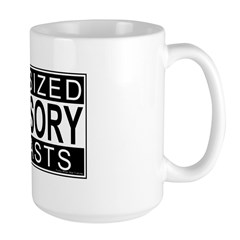 Fun Siezed Breasts Advisory Large Mug