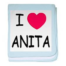I heart Anita baby blanket