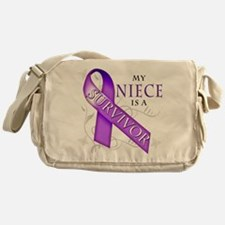 My Niece is a Survivor (purple).png Messenger Bag