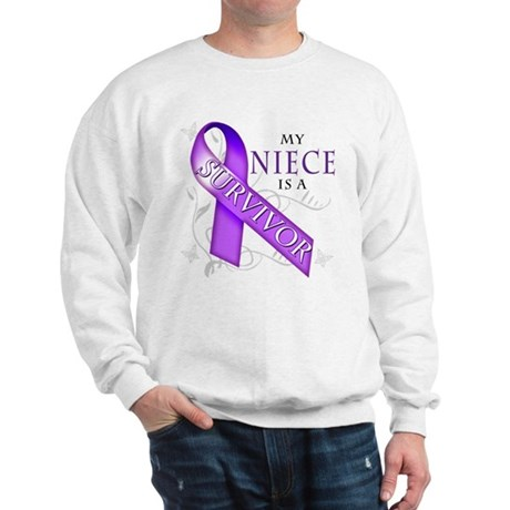 My Niece is a Survivor (purple).png Sweatshirt
