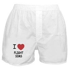 I heart Flight Sims Boxer Shorts