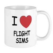 I heart Flight Sims Mug