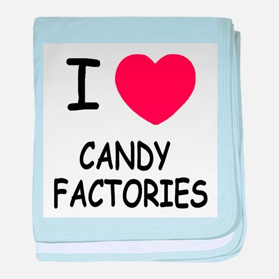I heart Candy Factories baby blanket