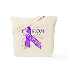 My Mom is a Survivor (purple).png Tote Bag