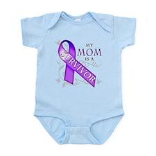 My Mom is a Survivor (purple).png Infant Bodysuit