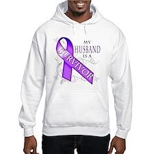 My Husband is a Survivor (purple).png Hoodie
