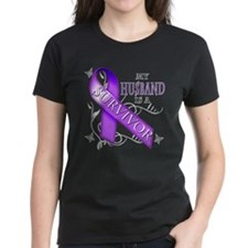 My Husband is a Survivor (purple).png Tee
