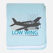 Aircraft Low Wing baby blanket