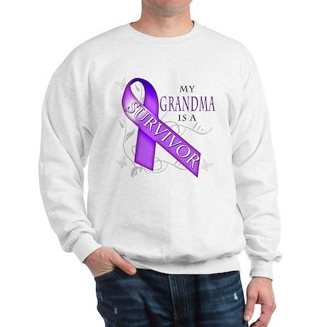 My Grandma is a Survivor (purple).png Sweatshirt