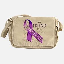 My Friend is a Survivor (purple).png Messenger Bag