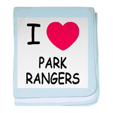 I heart Park Rangers baby blanket