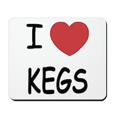 I heart Kegs Mousepad