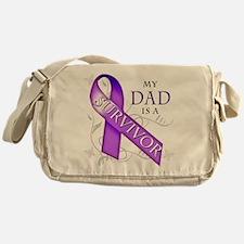 My Dad is a Survivor (purple).png Messenger Bag