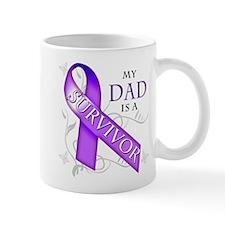 My Dad is a Survivor (purple).png Mug