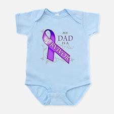 My Dad is a Survivor (purple).png Infant Bodysuit
