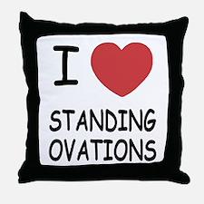 I heart Standing Ovations Throw Pillow