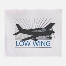 Aircraft Low Wing Throw Blanket