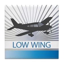 Aircraft Low Wing Tile Coaster