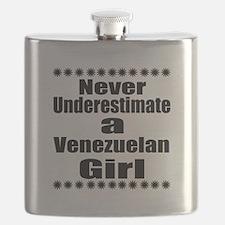 Never Underestimate A Venezuelan Girl Flask
