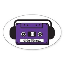 Oval Sticker (Cassette Face)