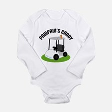 PawPaw's Caddy Long Sleeve Infant Bodysuit