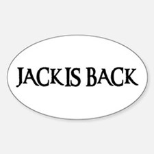 JACK IS BACK Oval Decal