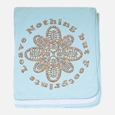 Leave Nothing Boot Stone baby blanket