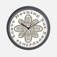 Leave Nothing Boot Stone Wall Clock