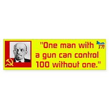 Lenin/Gun Bumper Sticker