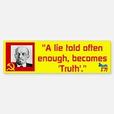 Lenin/Lie Bumper Bumper Sticker