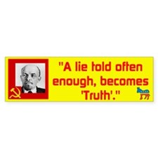 Lenin/Lie Bumper Sticker