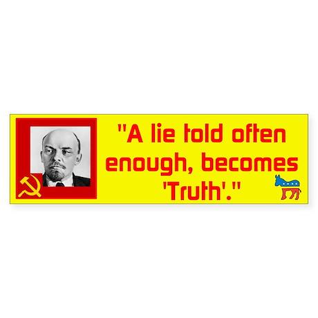 Lenin/Lie Sticker (Bumper)