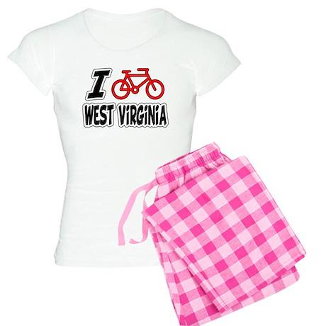I Love Cycling West Virginia Women's Light Pajamas
