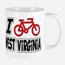 I Love Cycling West Virginia Mug