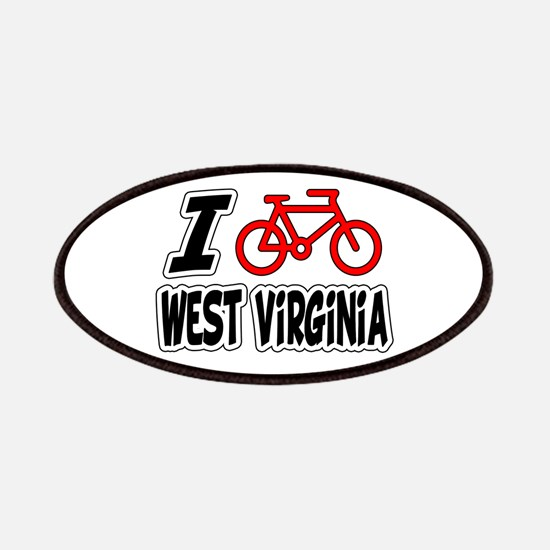 I Love Cycling West Virginia Patches
