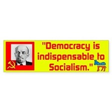 Lenin/Democracy Bumper Sticker