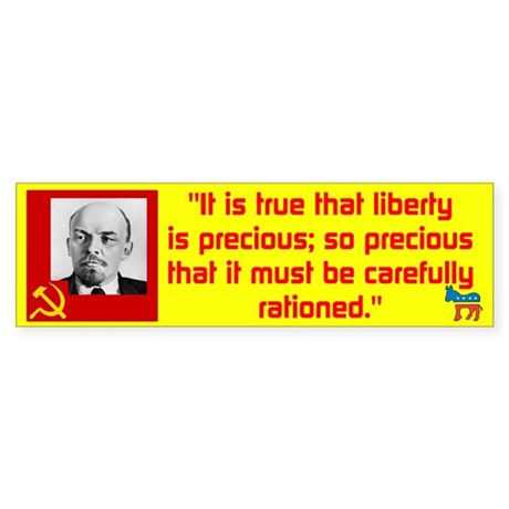 Lenin/Liberty Sticker (Bumper 10 pk)