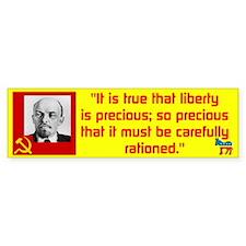 Lenin/Liberty Bumper Sticker