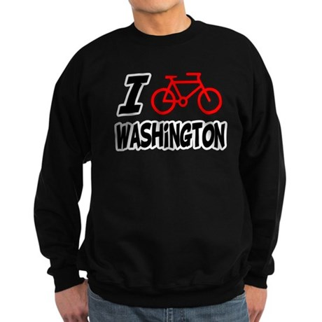 I Love Cycling Washington Sweatshirt (dark)