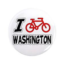 "I Love Cycling Washington 3.5"" Button"
