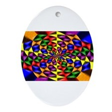 gay flower. Ornament (Oval)