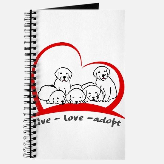 live love adopt Journal