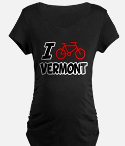 I Love Cycling Vermont T-Shirt