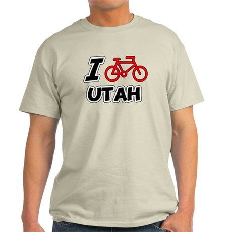 I Love Cycling Utah Light T-Shirt