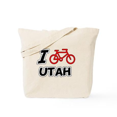 I Love Cycling Utah Tote Bag