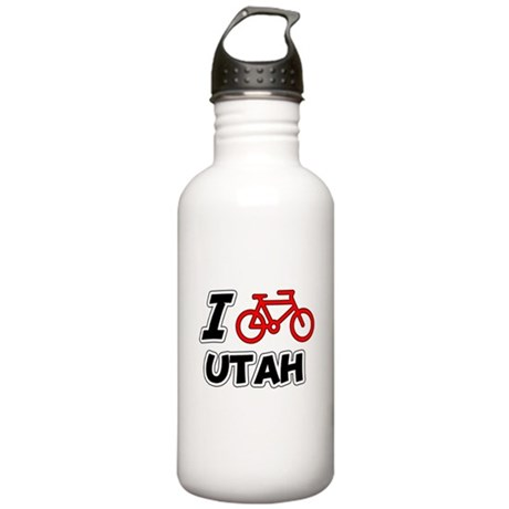 I Love Cycling Utah Stainless Water Bottle 1.0L